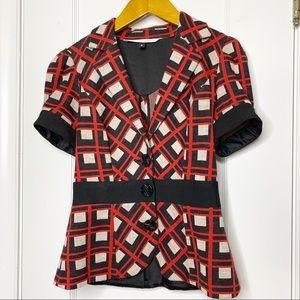 DVF Suerte short sleeve blazer jacket 2